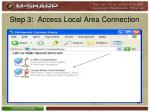 step 3 access local area connection