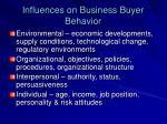 influences on business buyer behavior