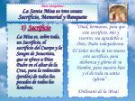 para catequistas la santa misa es tres cosas sacrificio memorial y banquete