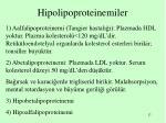 hipolipoproteinemiler