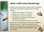 what is not active monitoring