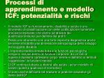 processi di apprendimento e modello icf potenzialit e rischi