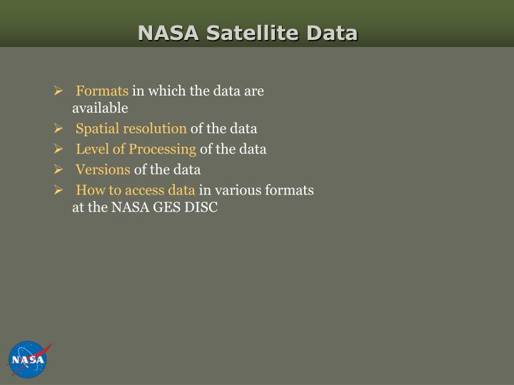 NASA Satellite Data