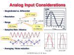 analog input considerations