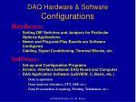 daq hardware software configurations