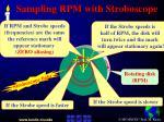 sampling rpm with stroboscope