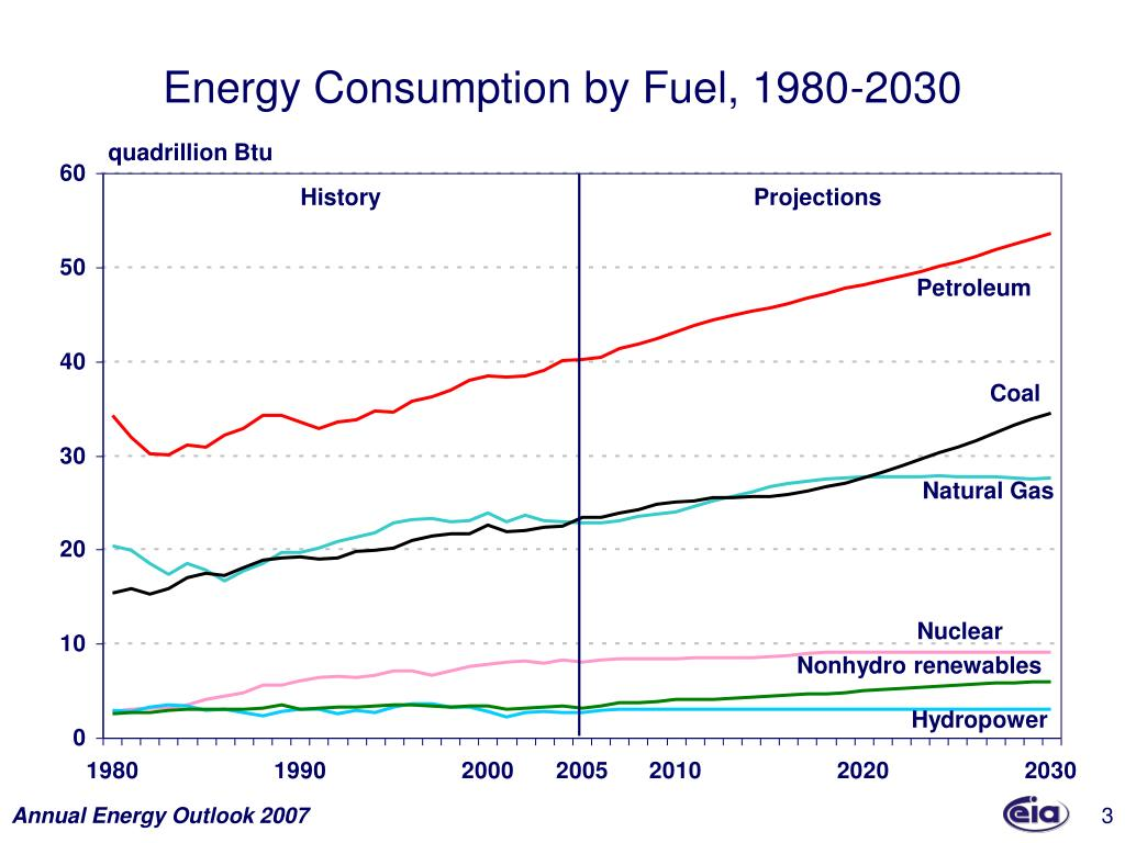 Energy Consumption by Fuel, 1980-2030