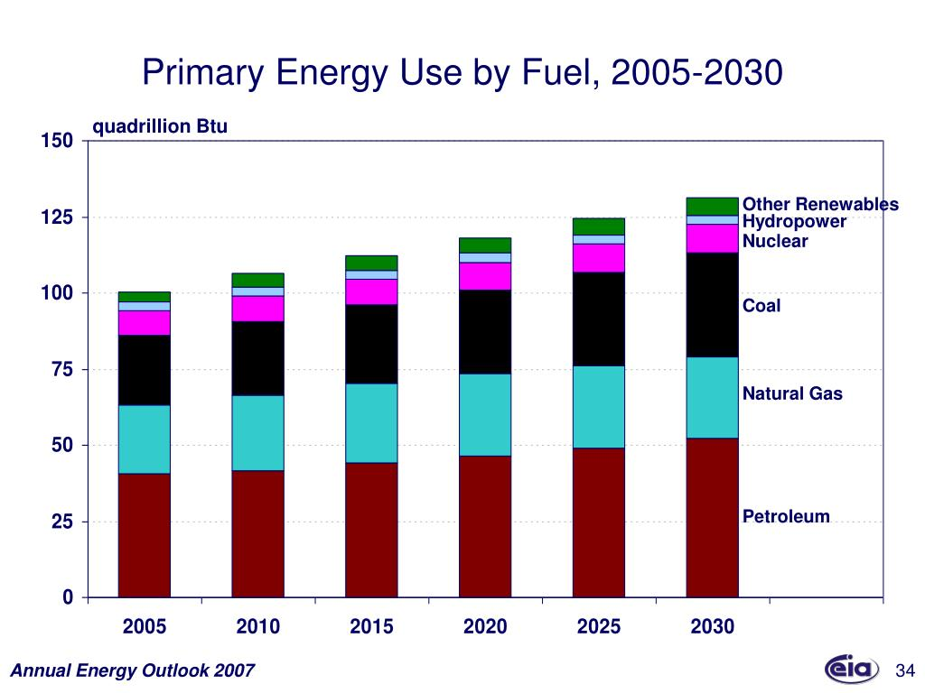 Primary Energy Use by Fuel, 2005-2030