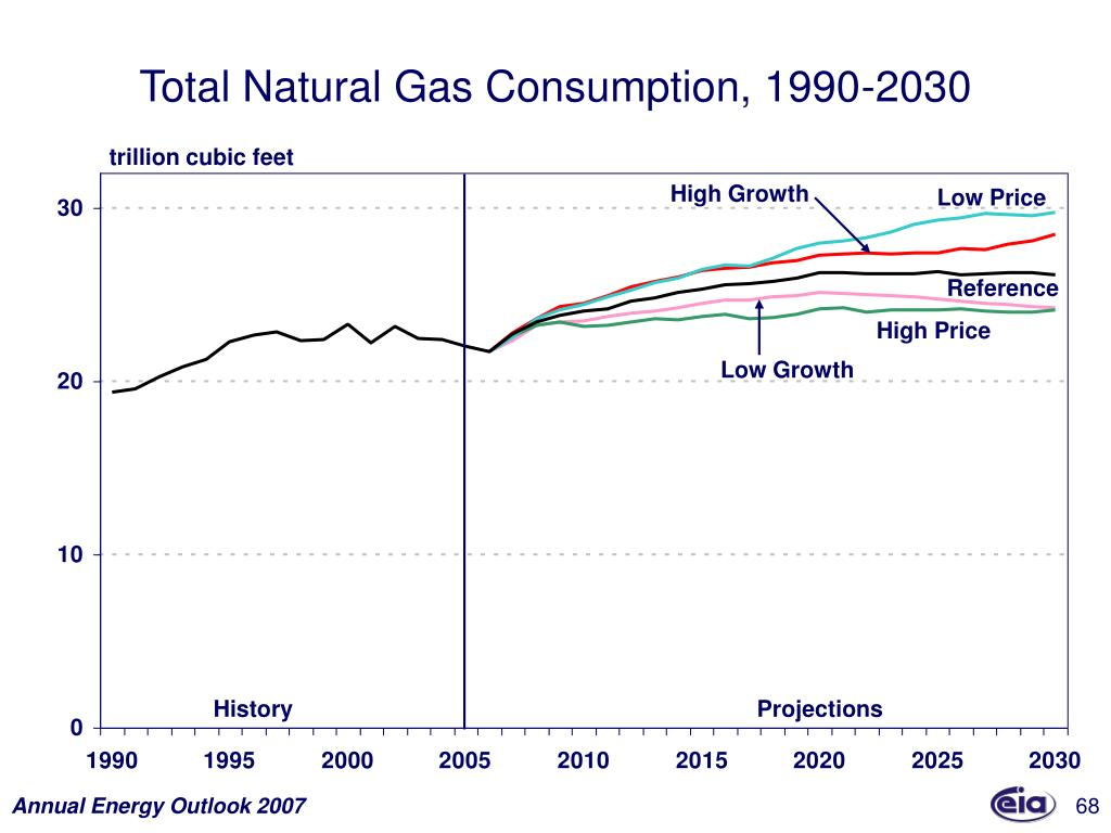 Total Natural Gas Consumption, 1990-2030