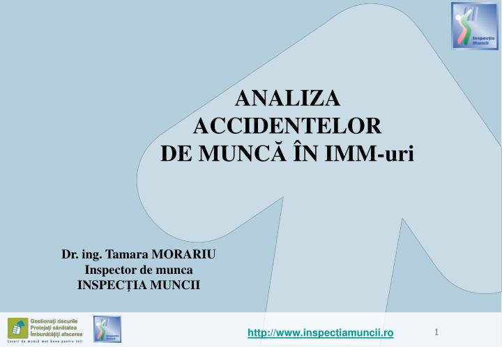 analiza accidentelor de munc n imm uri n.