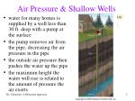 air pressure shallow wells
