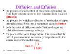diffusion and effusion