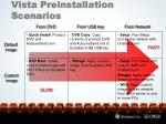 vista preinstallation scenarios