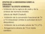 efectos de la amiodarona sobre la fisiolog a tiroidea y su efecto hormonal
