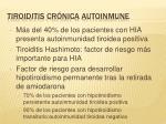 tiroiditis cr nica autoinmune