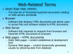 web related terms
