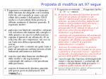 proposta di modifica art 97 segue