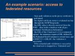 an example scenario access to federated resources