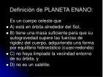 definici n de planeta enano
