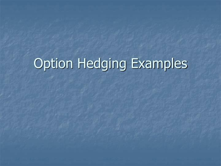 option hedging examples n.