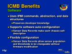 icmb benefits software