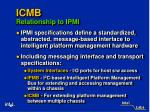 icmb relationship to ipmi