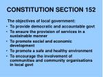 constitution section 152