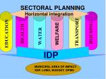 sectoral planning