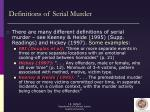 definitions of serial murder