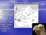 iii routes across the sahara