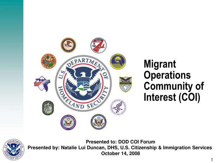 migrant operations community of interest coi n.