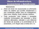 obras de infraestructura excavaciones y demoliciones