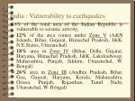 india vulnerability to earthquakes