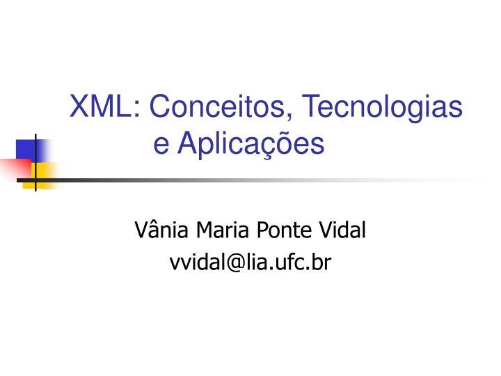 xml conceitos tecnologias e aplica es n.