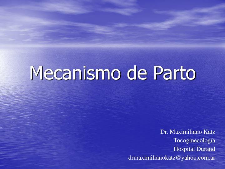 mecanismo de parto n.