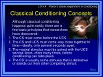 classical conditioning concepts2