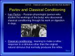 pavlov and classical conditioning