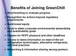 benefits of joining greenchill