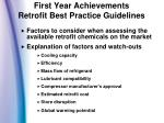 first year achievements retrofit best practice guidelines1