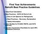 first year achievements retrofit best practice guidelines4