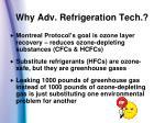 why adv refrigeration tech
