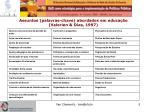 assuntos palavras chave abordados em educa o valerien dias 1997