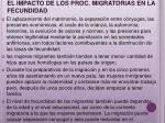 el impacto de los proc migratorias en la fecundidad