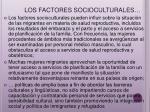 los factores socioculturales