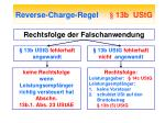 reverse charge regel 13b ustg