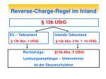 reverse charge regel im inland