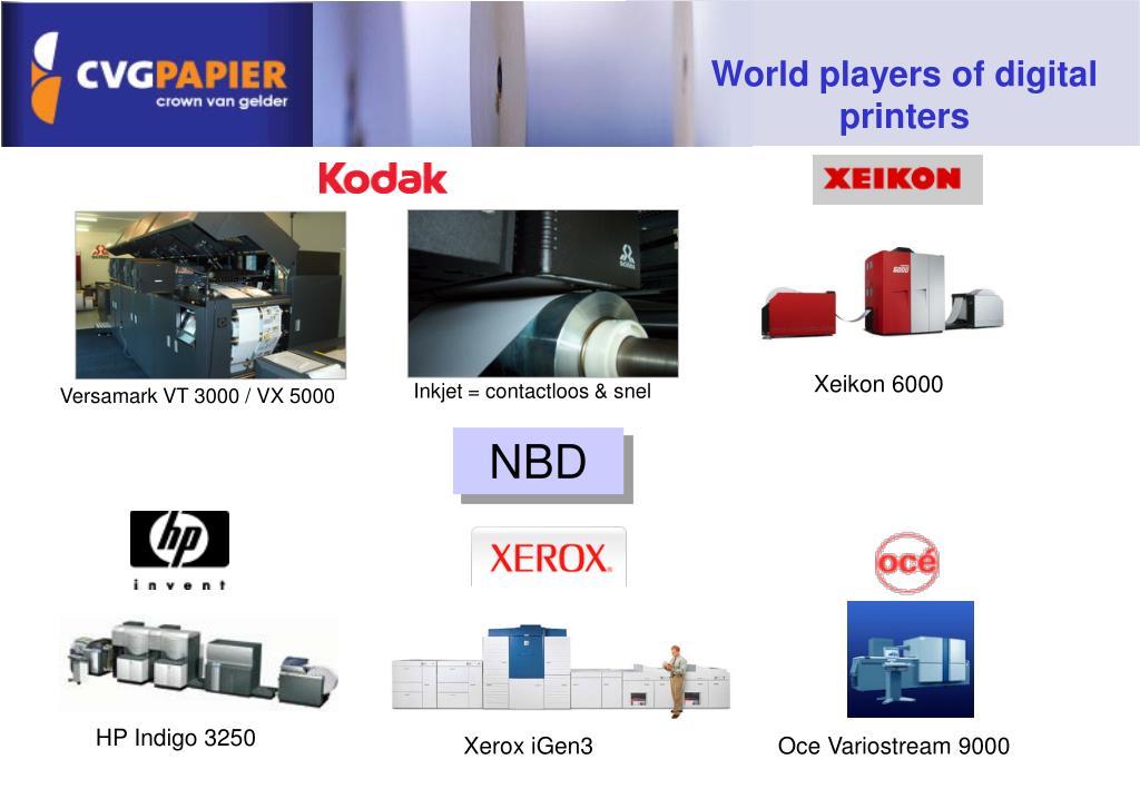 World players of digital printers