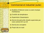 commercial et industriel suite