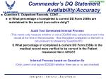 commander s dq statement availability accuracy1