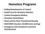 homeless programs